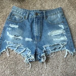 Unif denim shorts